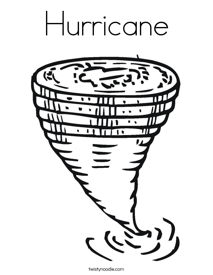 Hurricane Coloring Pages  Hurricane Coloring Page Twisty Noodle