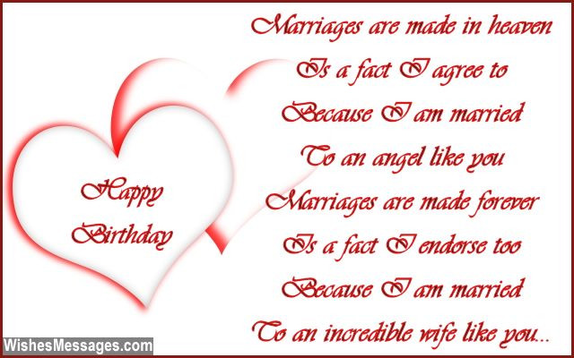 Best ideas about Husband Birthday Quotes From Wife . Save or Pin Birthday Poems for Wife – WishesMessages Now.