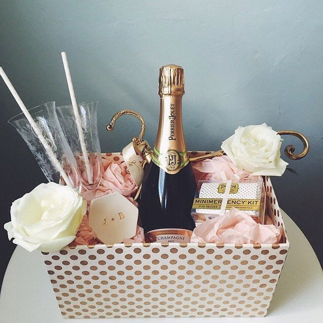 Best ideas about Ideas For A Wedding Gift . Save or Pin Cute Bridesmaid Gift Baskets Gift Ftempo Now.