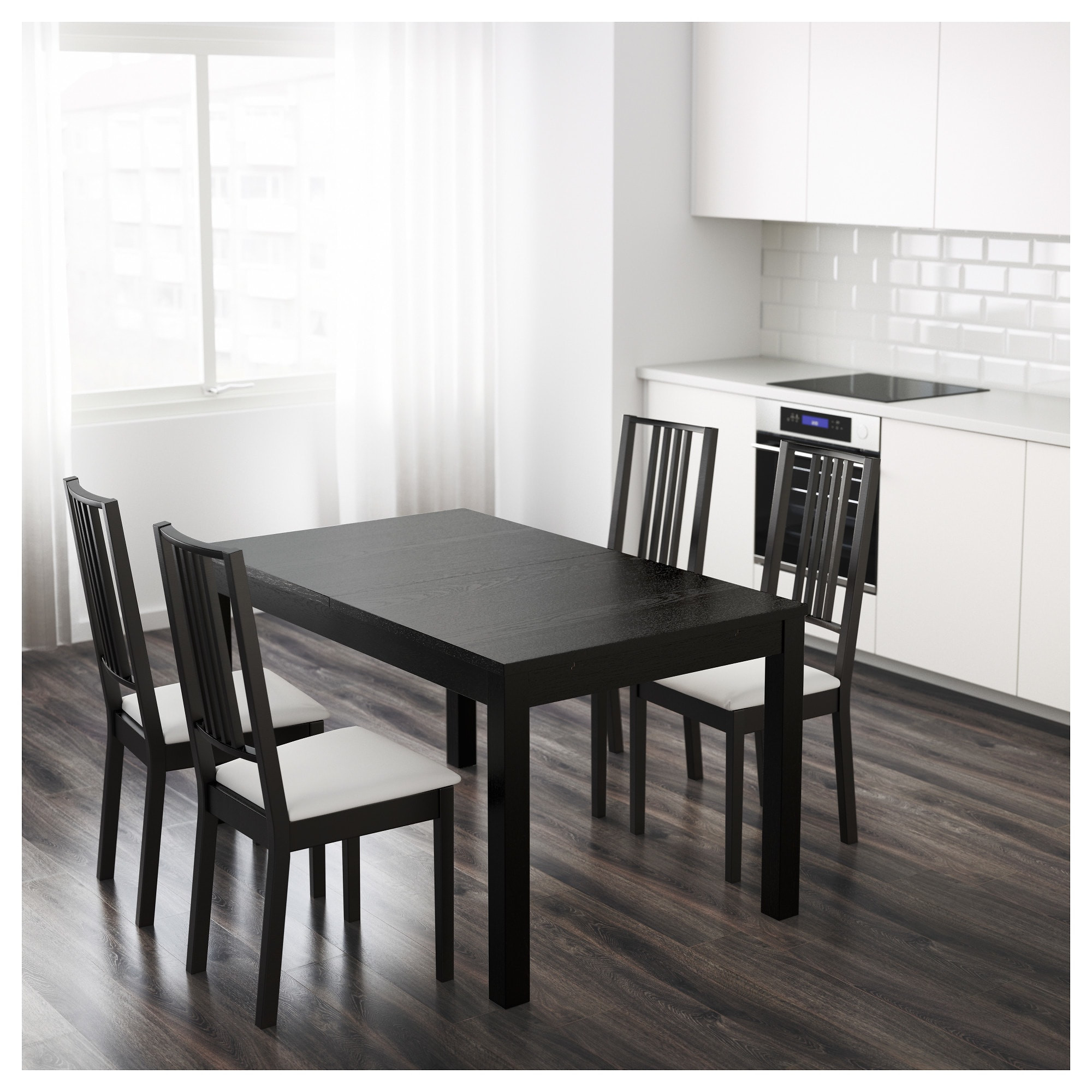 Best ideas about Ikea Dining Room Tables . Save or Pin BJURSTA Extendable table Brown black 140 180 220 x 84 cm Now.