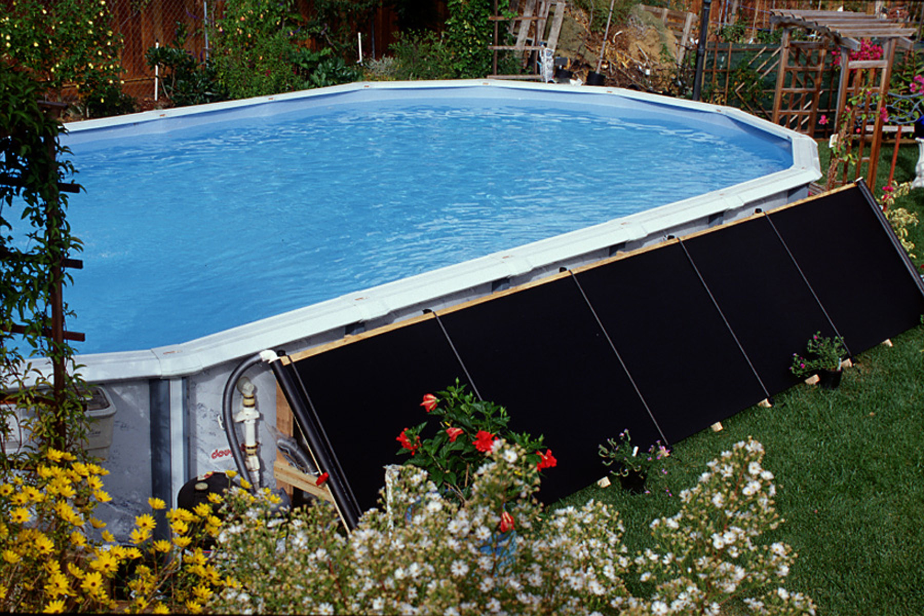 Best ideas about In Ground Pool Solar Heaters . Save or Pin NEW FAFCO SOLAR SWIMMING POOL ABOVE GROUND SOLAR HEATING Now.
