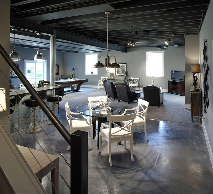 Best ideas about Industrial Basement Ideas . Save or Pin loft style basement Basement Pinterest Now.