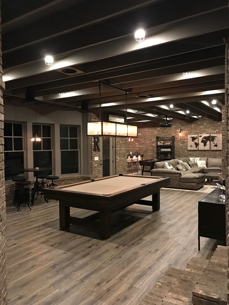 Best ideas about Industrial Basement Ideas . Save or Pin Industrial Looking Finished Basement • BASEMENT Now.