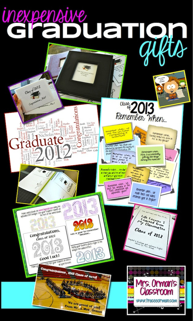 Inexpensive High School Graduation Gift Ideas  Mrs Orman s Classroom Ten Thoughtful and Inexpensive