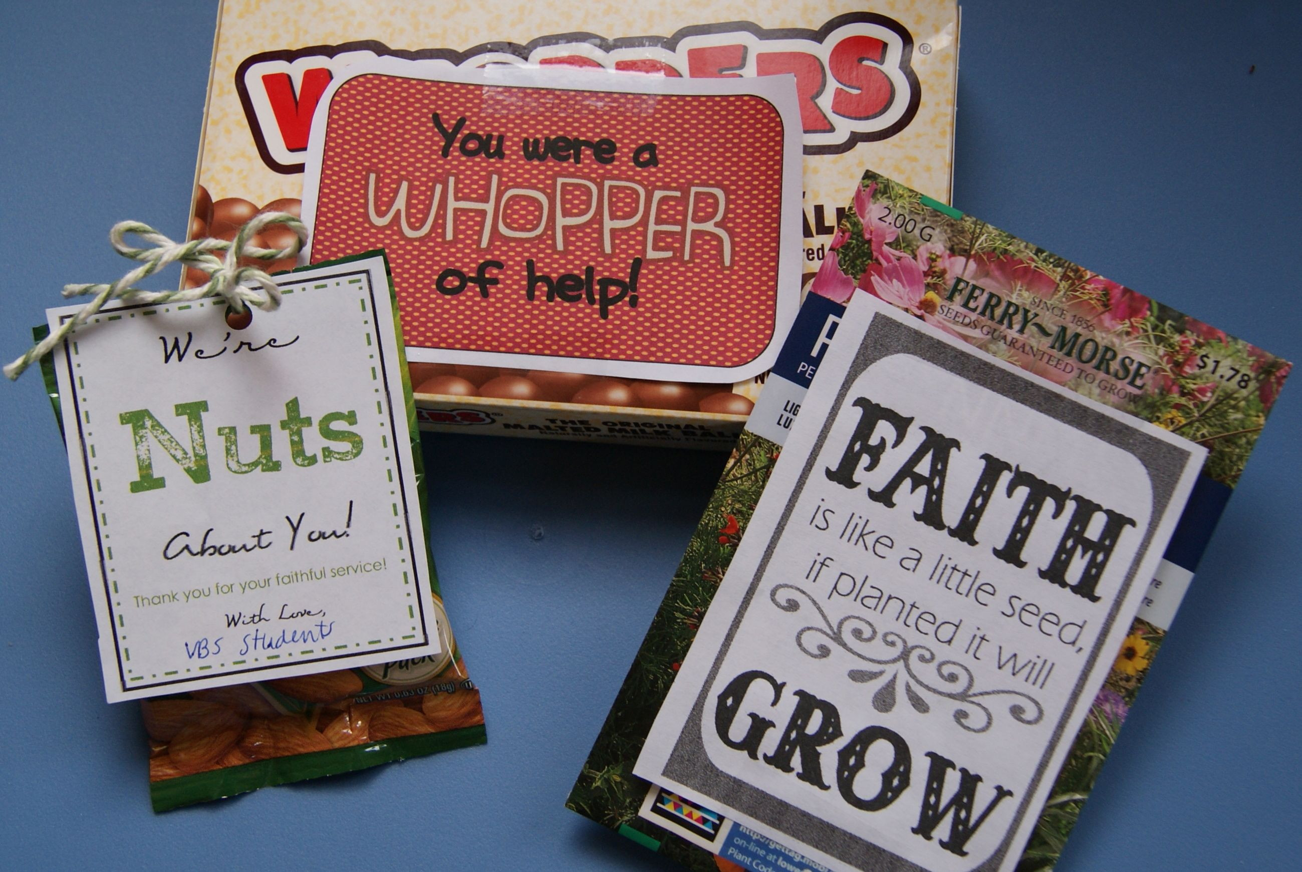 Inexpensive Thank You Gift Ideas For Volunteers  3 Volunteer Recognition Gifts for Sunday School VBS