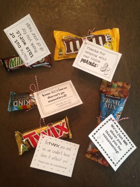 Inexpensive Thank You Gift Ideas For Volunteers  Volunteer Thank You Gifts 30 t tags