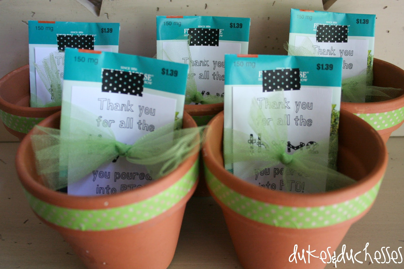 Inexpensive Thank You Gift Ideas For Volunteers  The Gift of Thyme A Thank You Gift Dukes and Duchesses