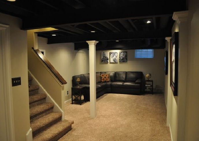 Best ideas about Inexpensive Unfinished Basement Ideas . Save or Pin Basement Finishing Ideas That Won t Empty Your Wallet Now.