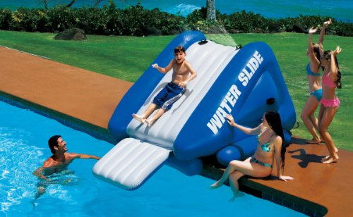 Best ideas about Inflatable Pool Slides For Inground Pools . Save or Pin Intex Kool Splash Inflatable Swimming Pool Water Slide Now.