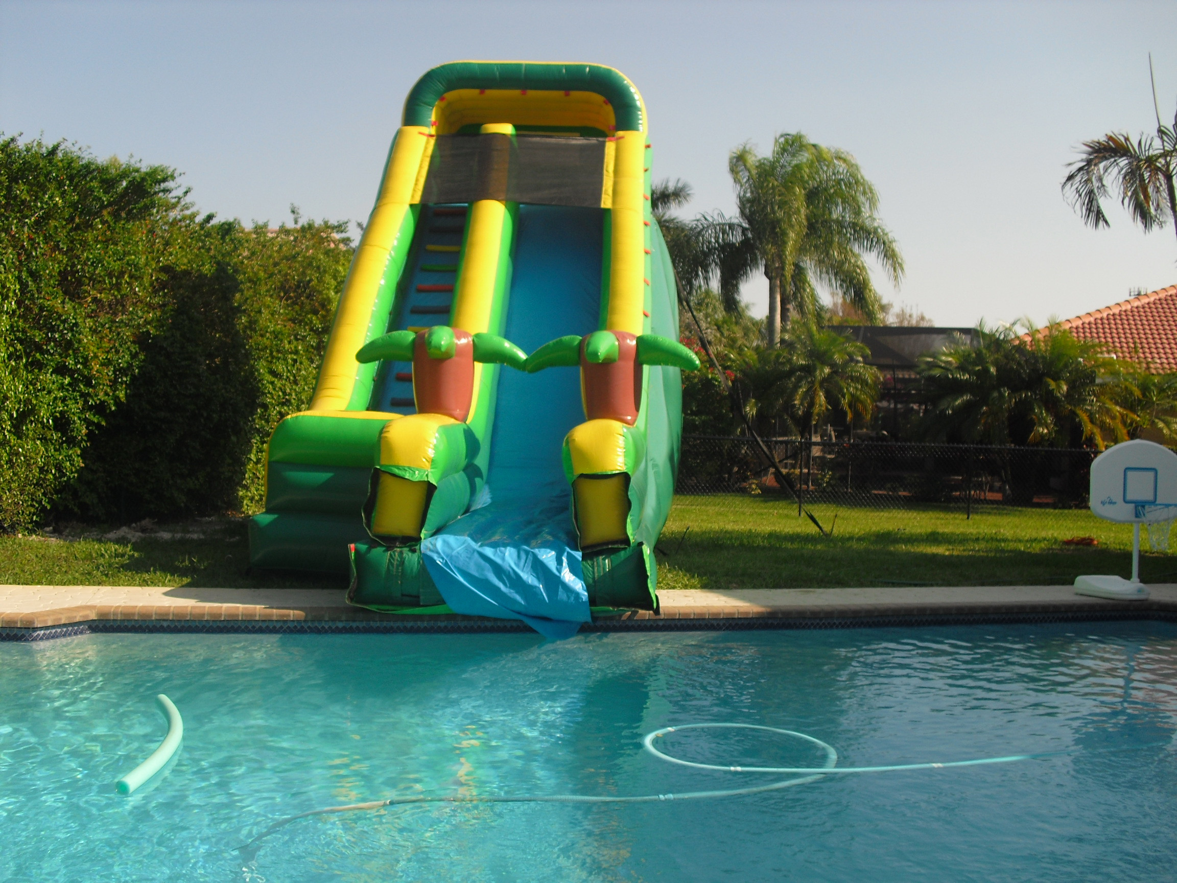 Best ideas about Inflatable Pool Slides For Inground Pools . Save or Pin Newest Inflatable Pool Slide s Now.
