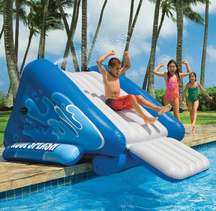 Best ideas about Inflatable Pool Slides For Inground Pools . Save or Pin Inflatable Ground Pool Slides Now.