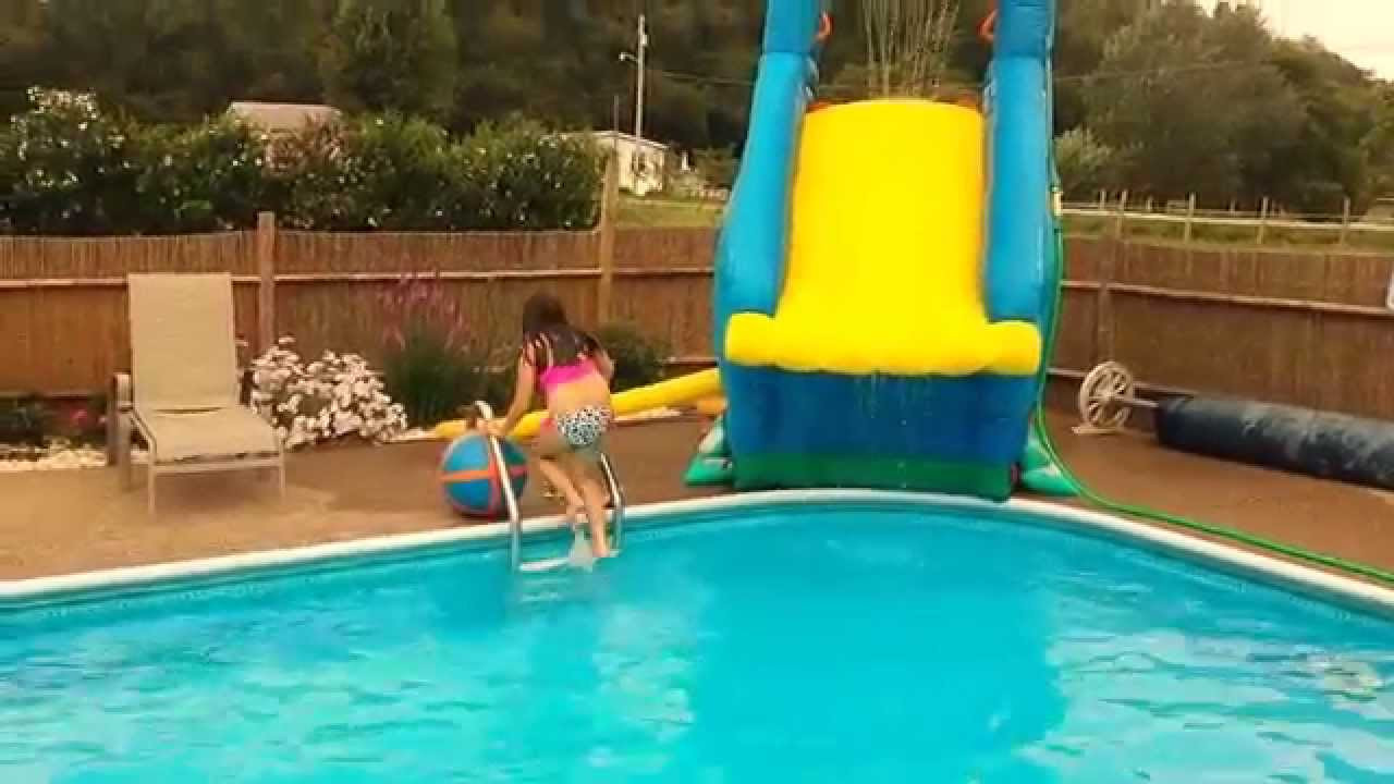 Best ideas about Inflatable Pool Slides For Inground Pools . Save or Pin More fun on Crazy inflatable pool slide Banzai Blaster Now.