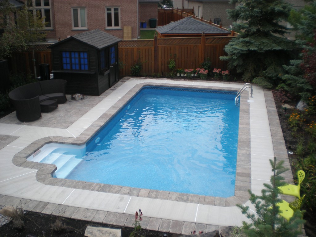 """Best ideas about Inground Pool Kit . Save or Pin 16 x 36 Rectangle Swimming Pool Kit with 48"""" Polymer Now."""