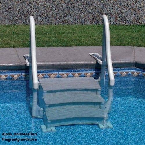 Best ideas about Inground Pool Ladder . Save or Pin Inground Swimming Pool Ladder In Ground Stair Case Steps Now.