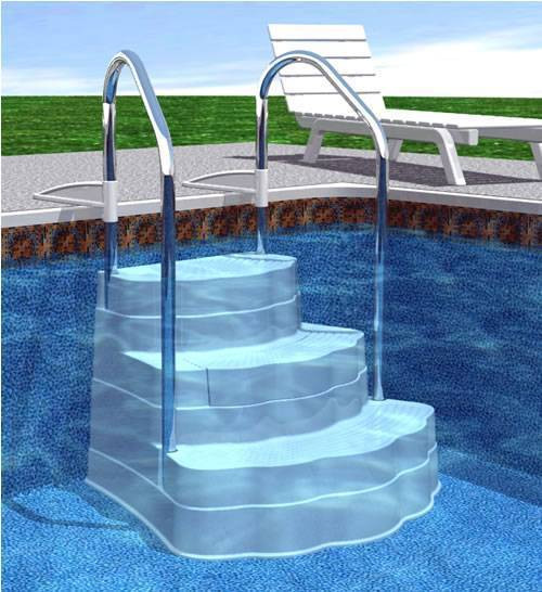 Best ideas about Inground Pool Ladder . Save or Pin Spring Pool Improvements Pool Steps and Ladders Now.