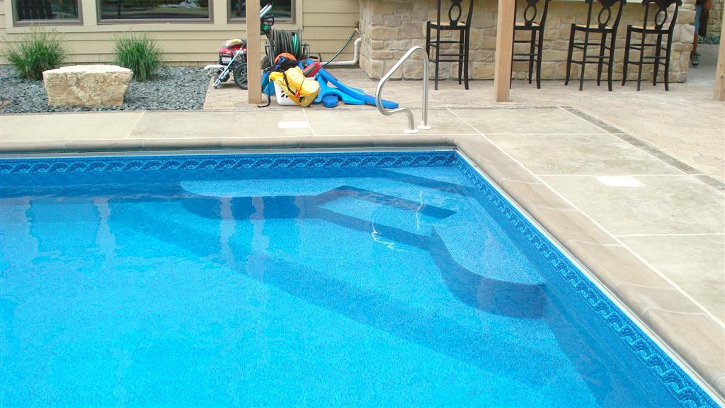 Best ideas about Inground Pool Ladder . Save or Pin Custom Inground Pool Steps made of Concrete Steel or Polymer Now.