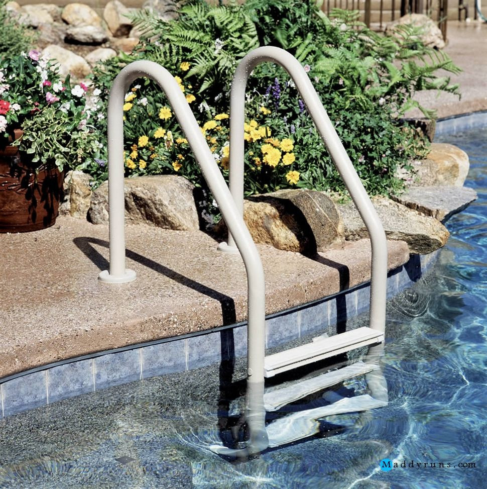 Best ideas about Inground Pool Ladder . Save or Pin Swimming Pool Swimming Pool Ladders & Stairs Replacement Now.
