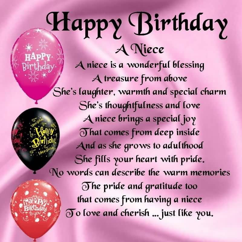 Inspirational Birthday Wishes For A Niece  Birthday Wishes For Niece Quotes Quote Addicts
