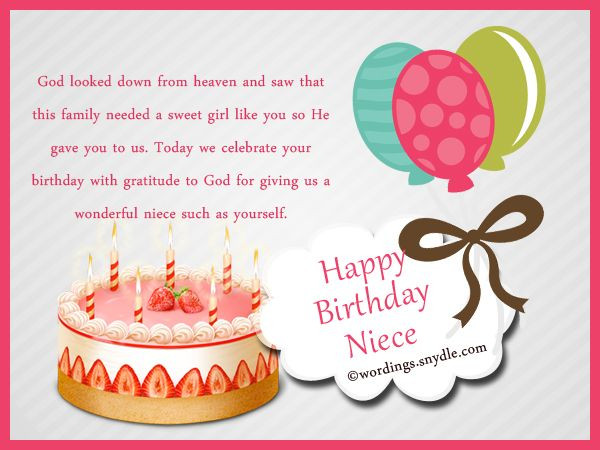 Inspirational Birthday Wishes For A Niece  Niece Birthday Messages Happy Birthday Wishes for Niece