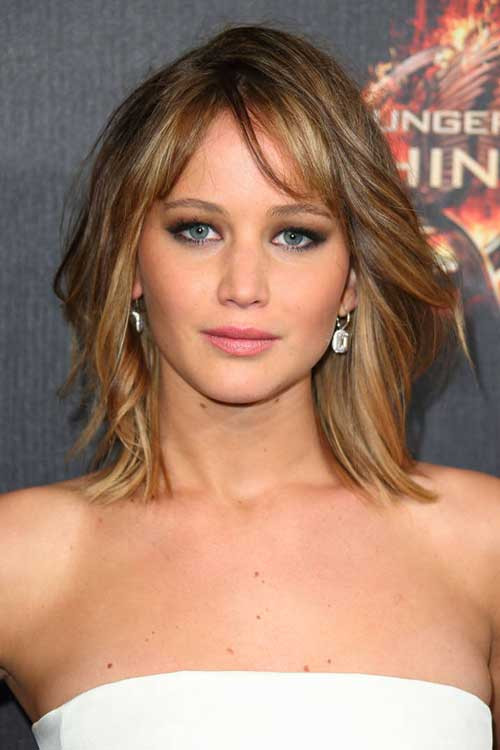 Jennifer Lawrence Bob Hairstyle  Celebrities With Short Hair