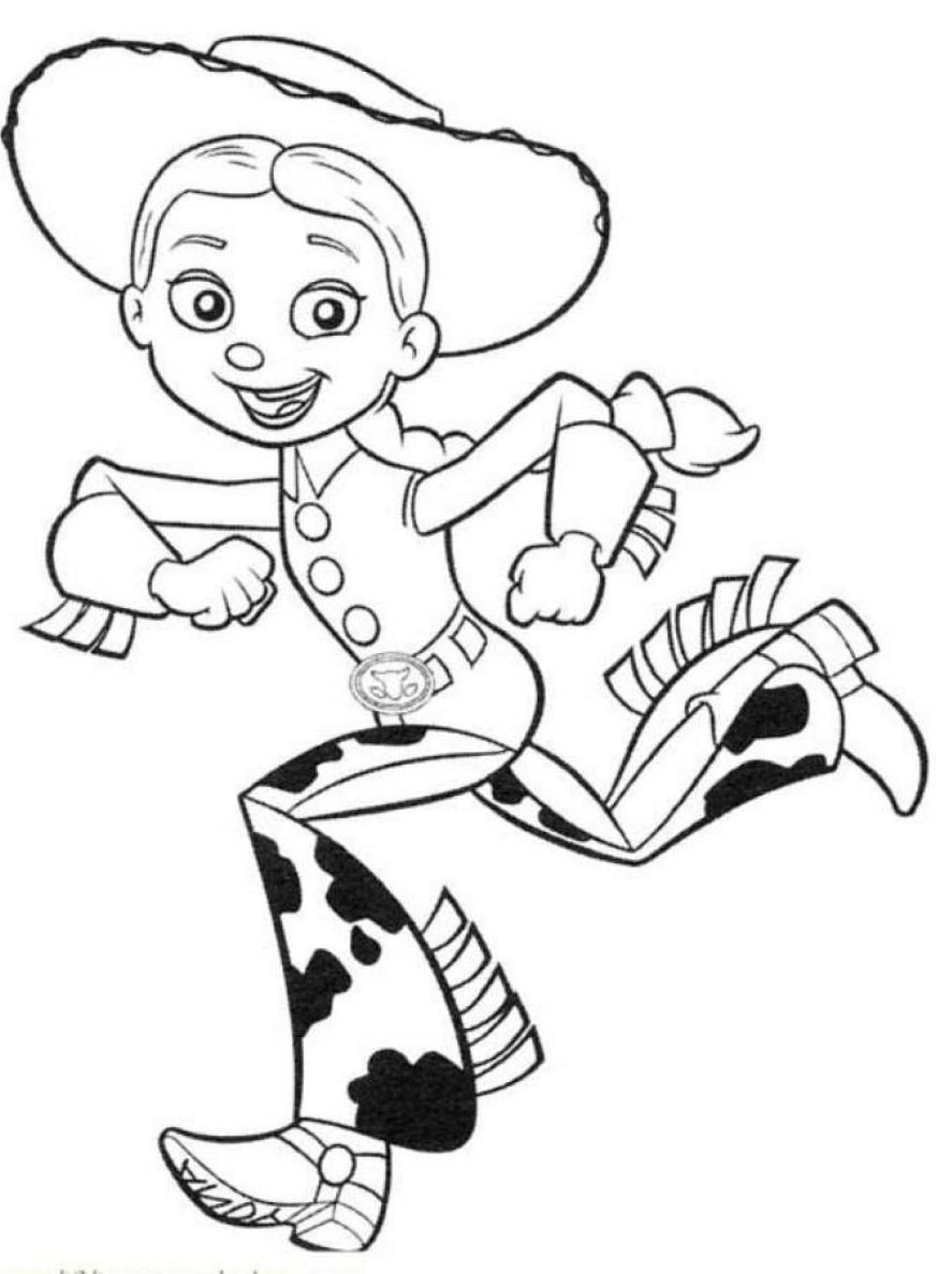 Jessie Coloring Pages  Toy Story Jessie Coloring Pages Free Coloring Home