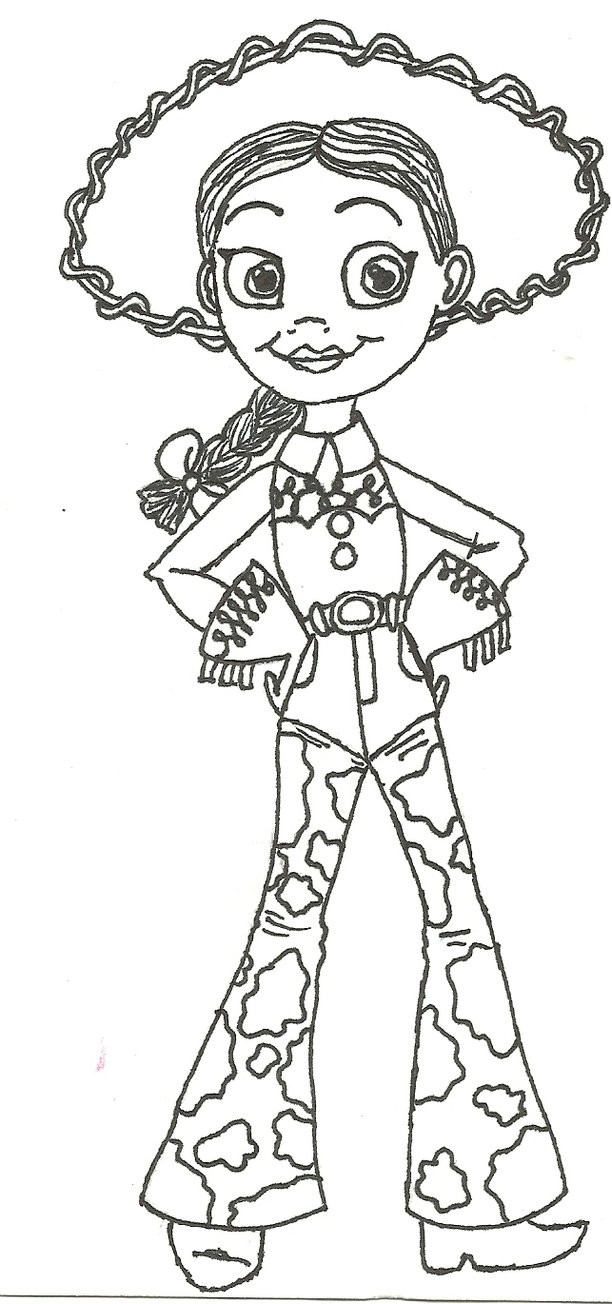 Jessie Coloring Pages  Toy Story Coloring Pages coloringsuite
