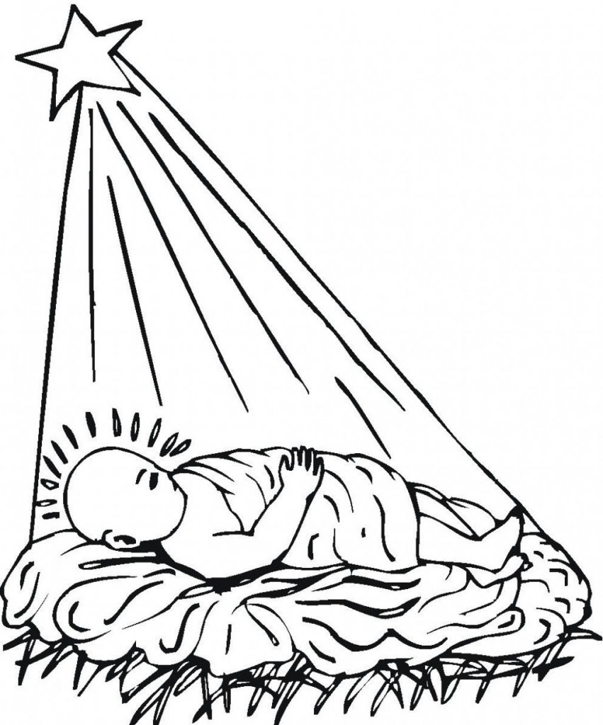 Jesus Born Printable Coloring Pages  Free Printable Jesus Coloring Pages For Kids