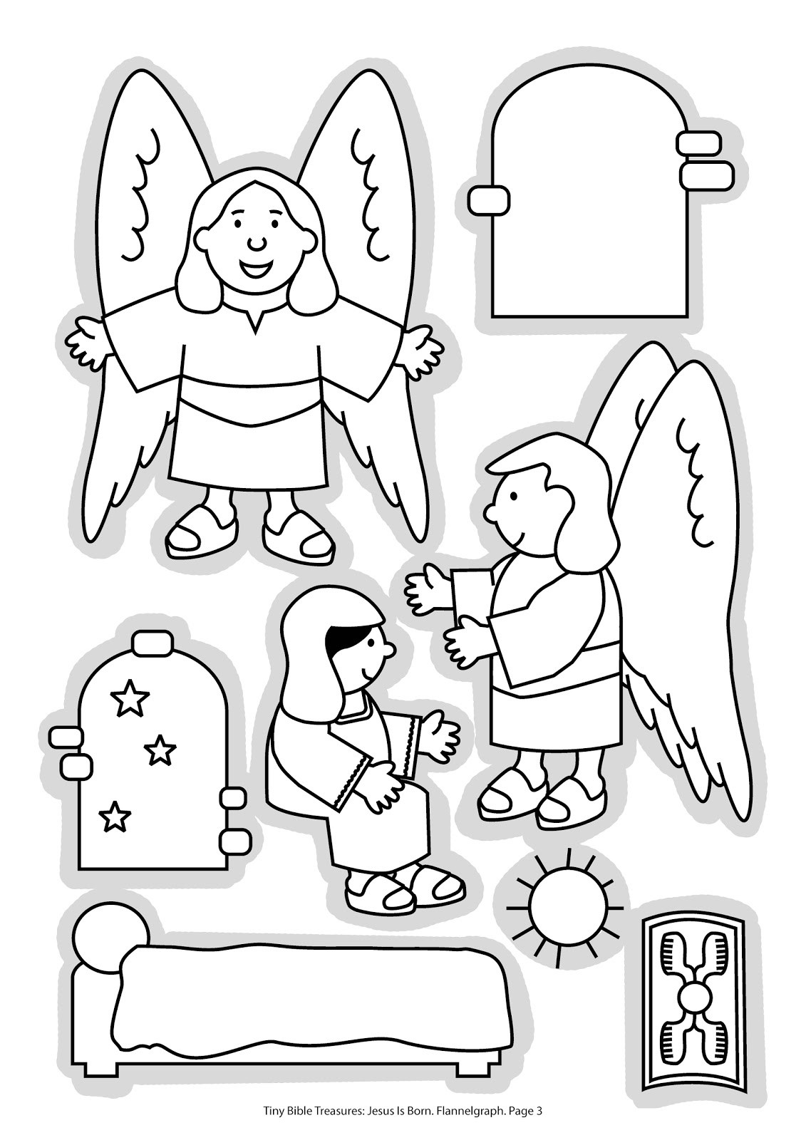 Jesus Born Printable Coloring Pages  Jesus Is Born Free Colouring Pages
