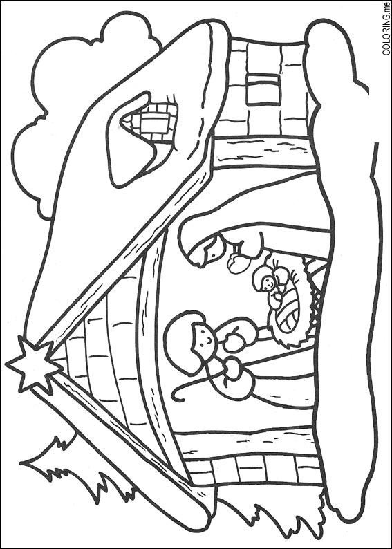 Jesus Born Printable Coloring Pages  Coloring page Christmas jesus born Coloring