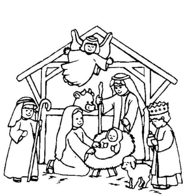 Jesus Born Printable Coloring Pages  Nativity coloring pages birth of jesus christ ColoringStar