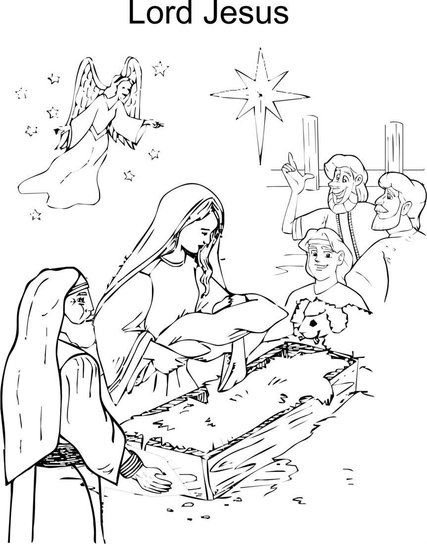 Jesus Born Printable Coloring Pages  Jesus Birth Coloring Page Coloring Home