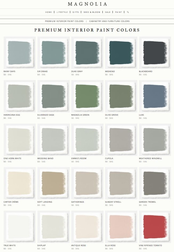 Best ideas about Joanna Gaines Paint Colors Sherwin Williams . Save or Pin Joanna Gaines Magnolia Home Paint Line Rainy Days Now.