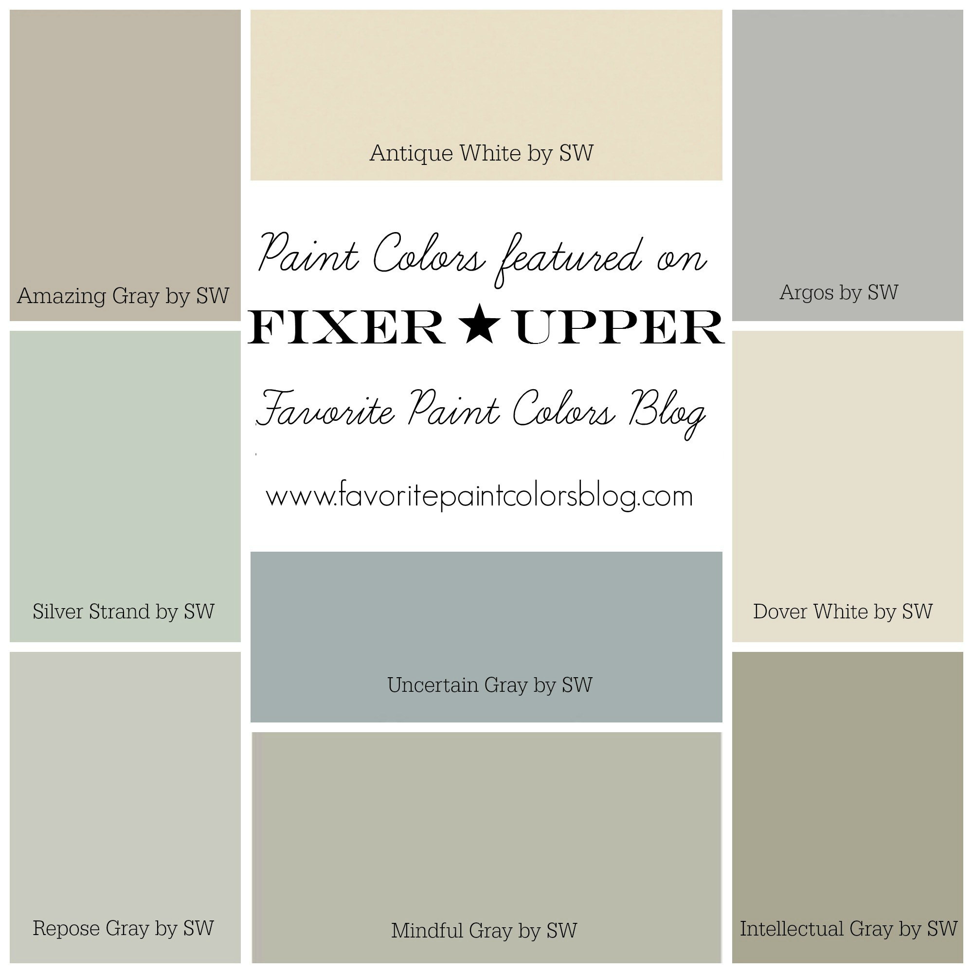 Best ideas about Joanna Gaines Paint Colors Sherwin Williams . Save or Pin Fixer Upper Paint Colors Now.