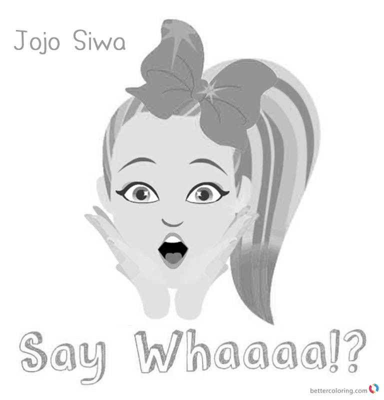 Jojo Siwa Printable Coloring Pages  Jojo Siwa Coloring Pages Jojo Say Whaaaa Free Printable
