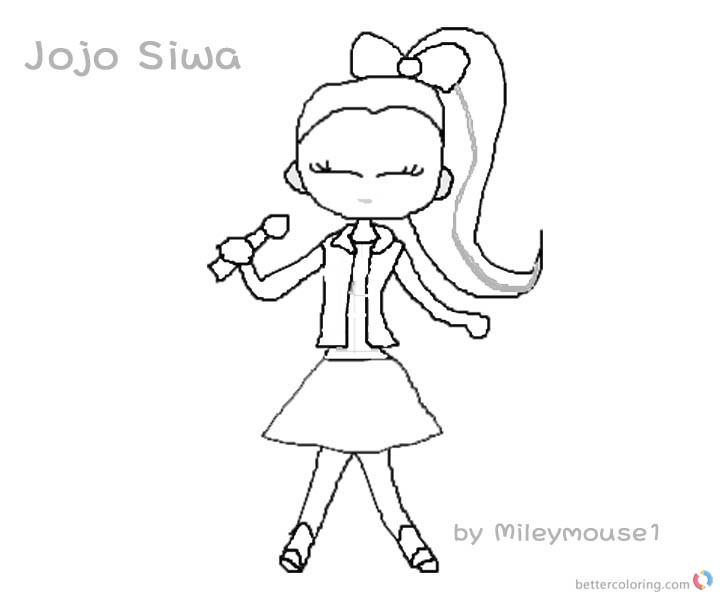 Jojo Siwa Printable Coloring Pages  Jojo Siwa Coloring Pages Fan Art Jojo Siwa Singing Free