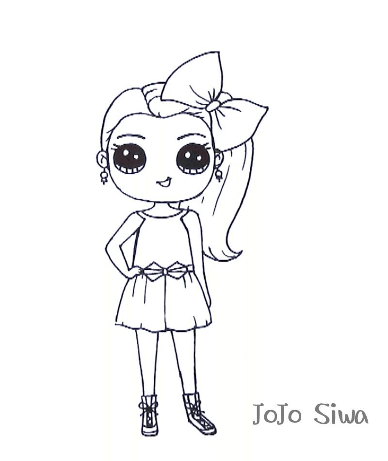 Jojo Siwa Printable Coloring Pages  Free Printable JoJo Siwa Coloring Pages
