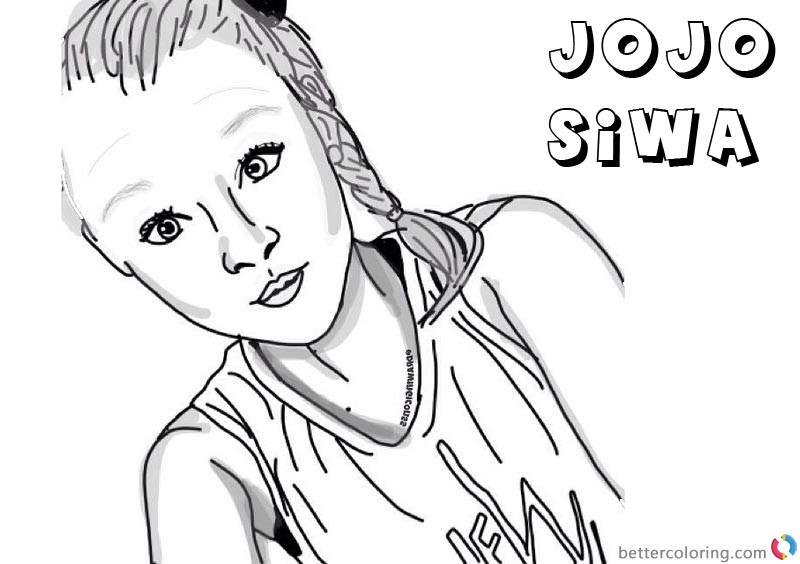 Jojo Siwa Printable Coloring Pages  Jojo Siwa Coloring Pages by drawingiconss Free Printable
