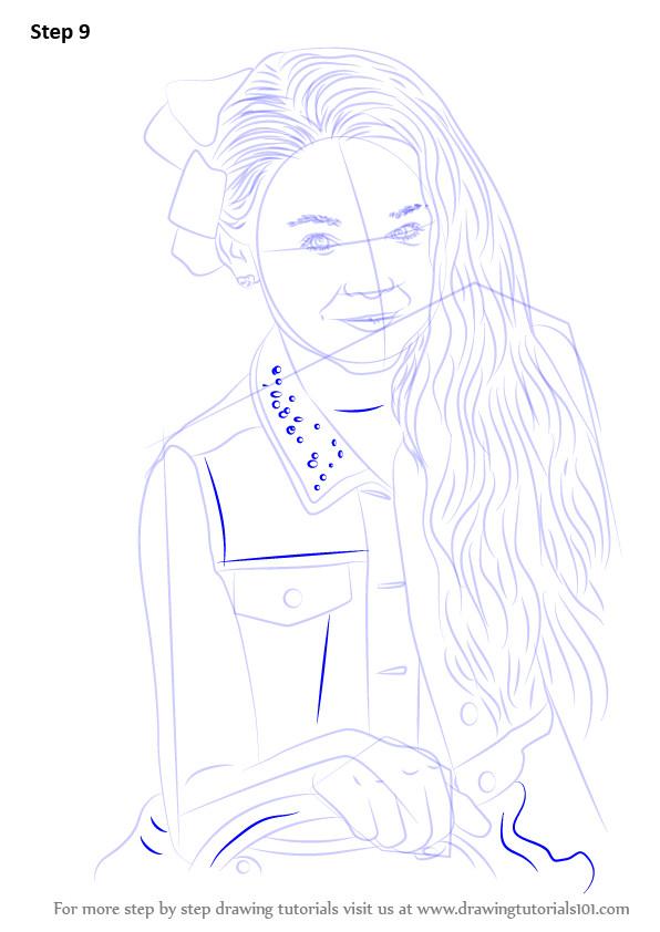 Jojo Siwa Printable Coloring Pages  Step by Step How to Draw Jojo Siwa DrawingTutorials101