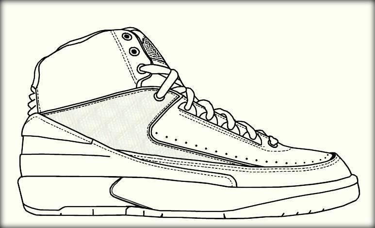Jordan Coloring Pages  Basketball Jordan Shoe Coloring Pages Color Zini