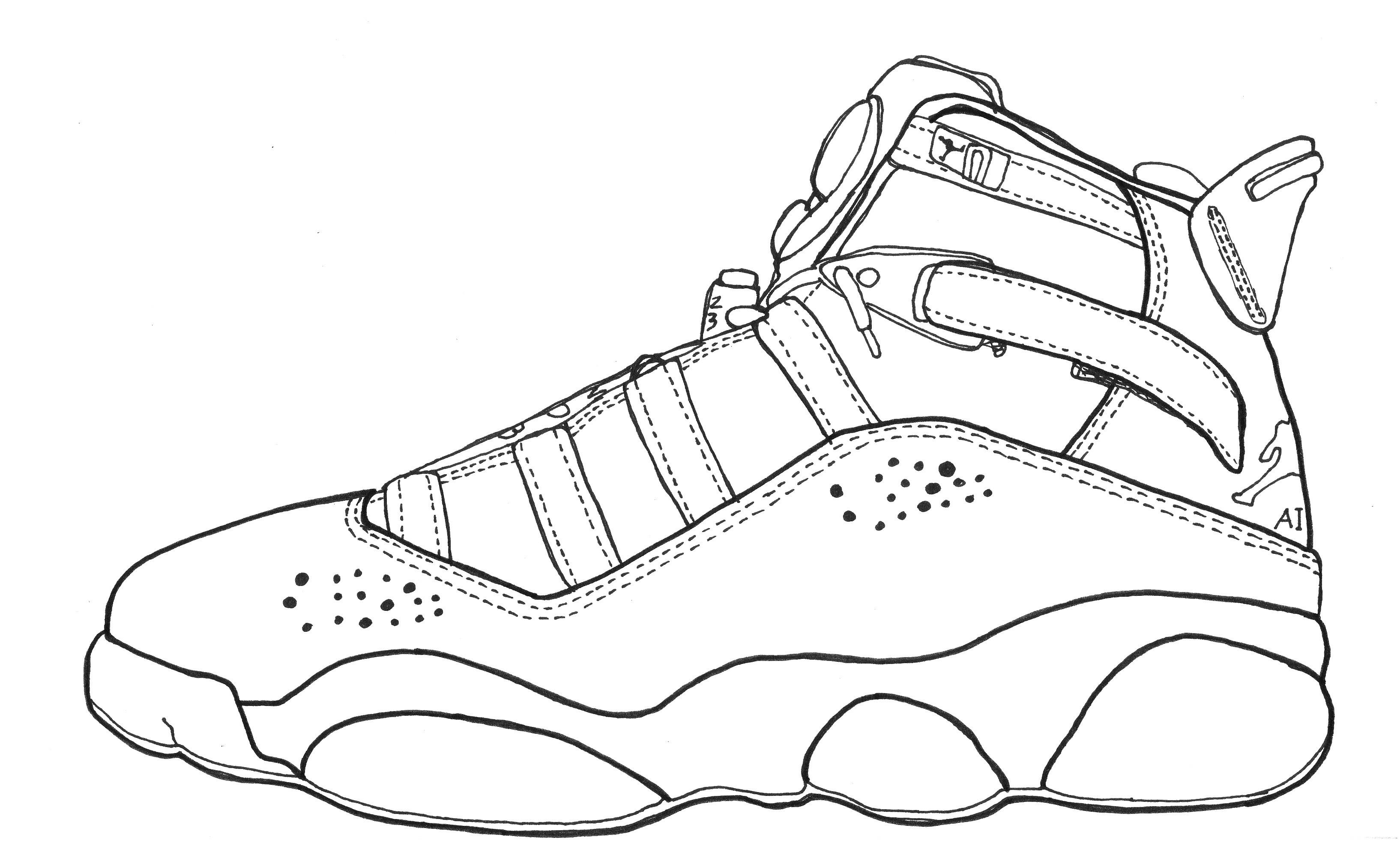 Jordan Coloring Pages  Jordan 14 Coloring Air Symbol Shoes Hq grig3