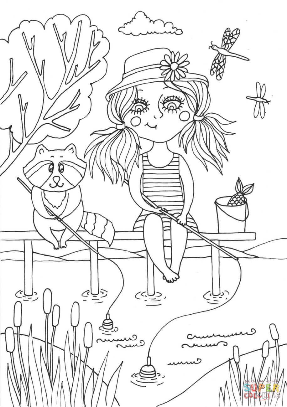 June Coloring Pages  Peppy in June coloring page