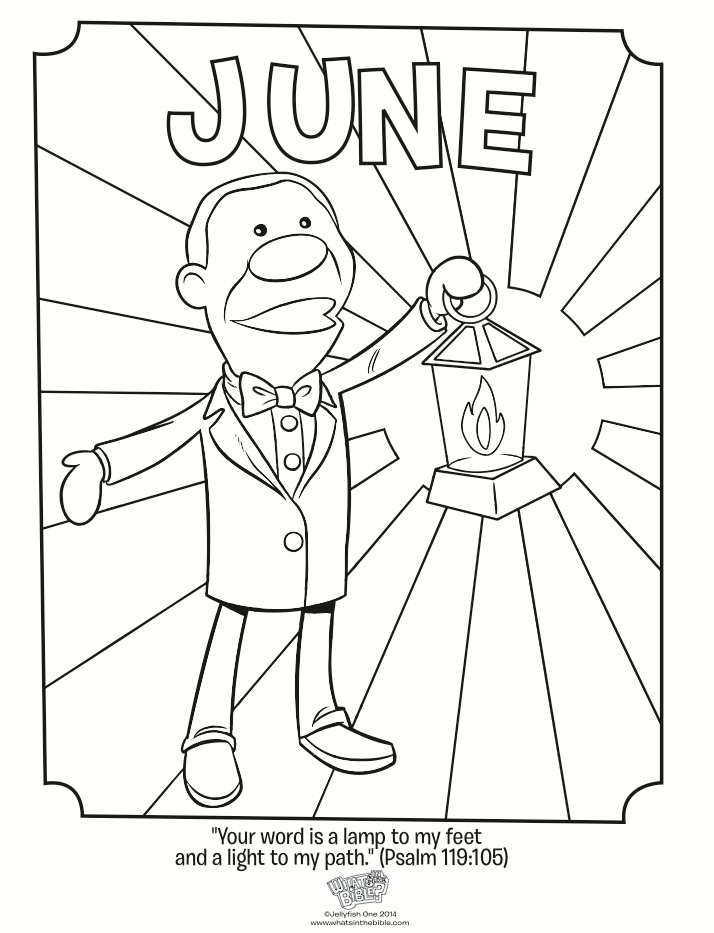 June Coloring Pages  June Coloring Page Psalm 119 105 Whats in the Bible