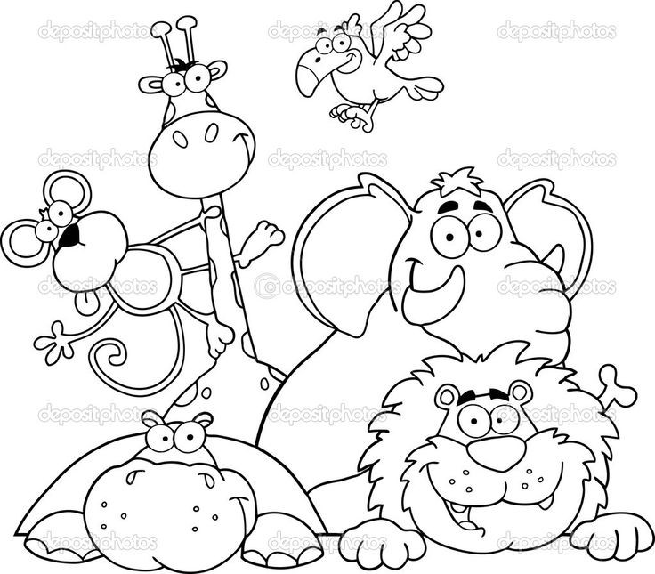 Jungle Coloring Pages  Safari Animal Coloring Pages Bestofcoloring