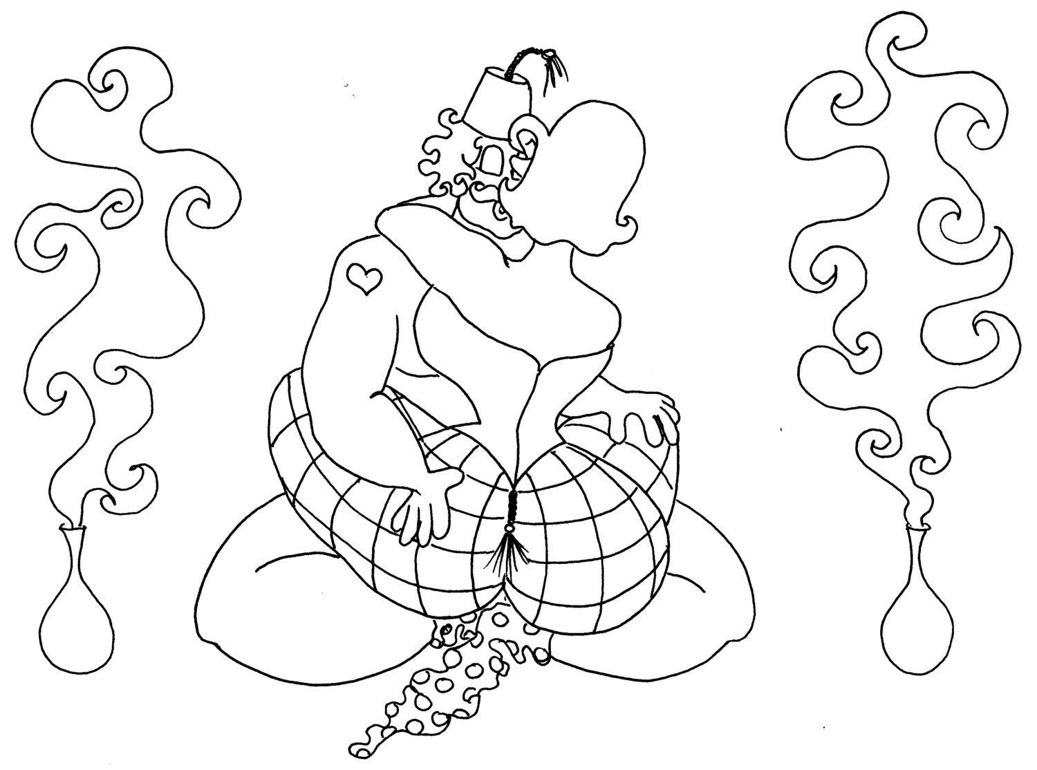 Kama Sutra Coloring Book  The Lotus Blossom Kama Sutra y Coloring Pages from
