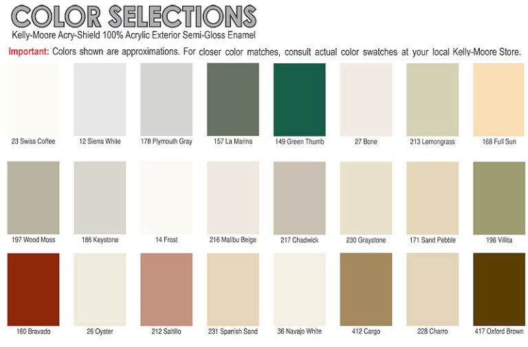 Best ideas about Kelly Moore Paint Colors . Save or Pin Kelly Moore Paint Color Chart Paint Colors Exterior House Now.
