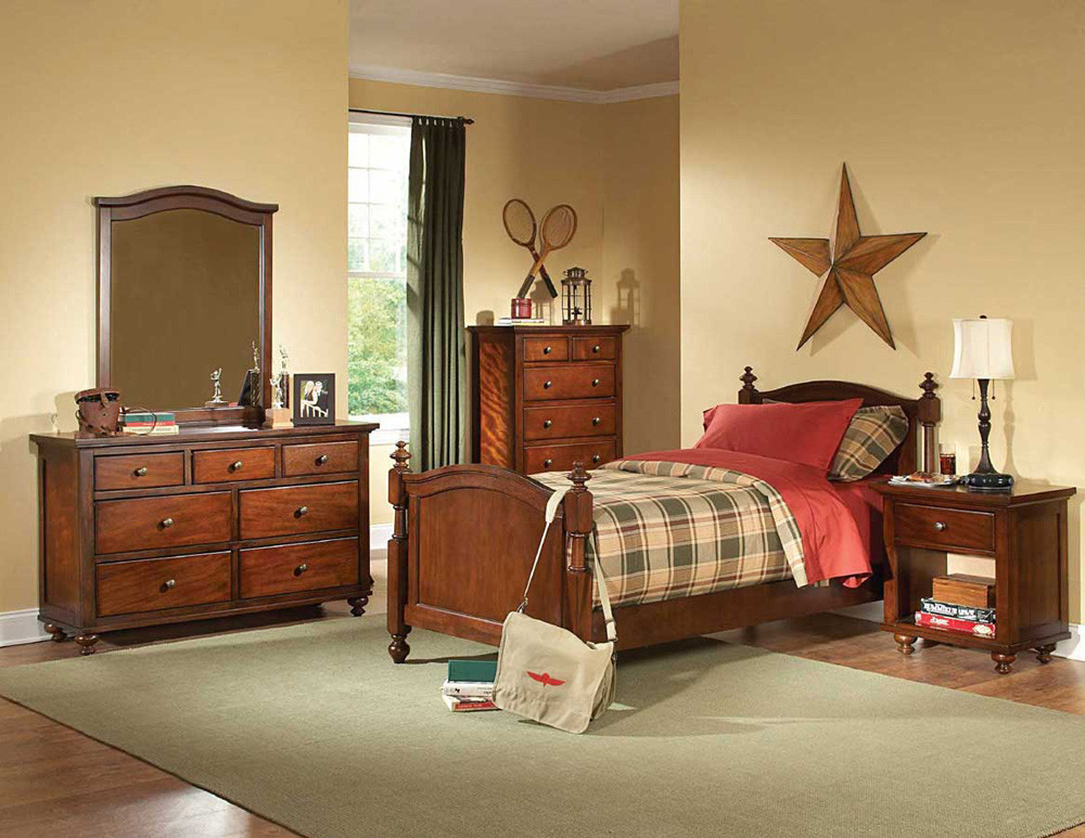 Best ideas about Kid Bedroom Sets . Save or Pin Brown Cherry Kids bedroom Set HE422 Now.