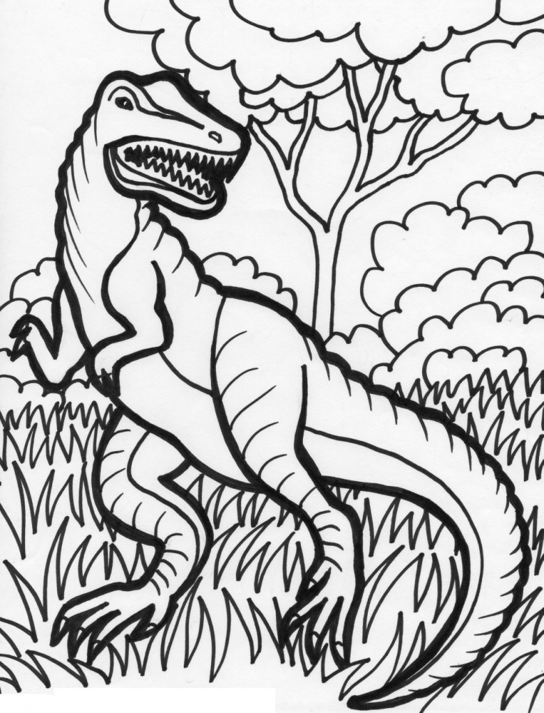 Kids Free Coloring Sheets  Free Printable Dinosaur Coloring Pages For Kids