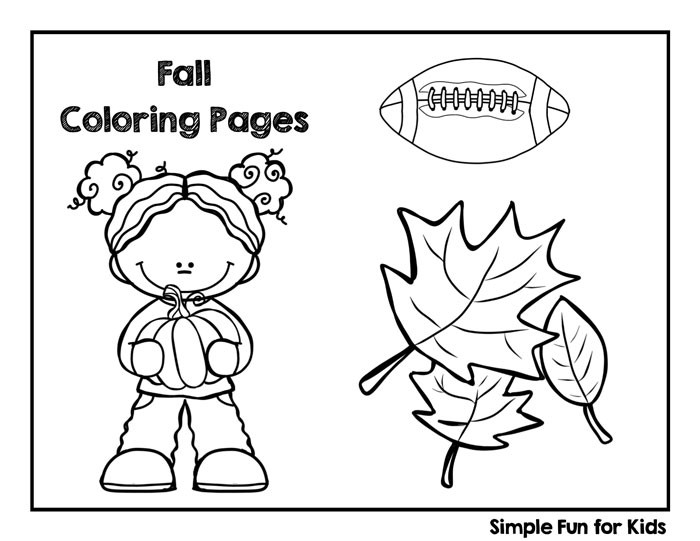 Kids Free Coloring Sheets Fall  Fall Coloring Pages Simple Fun for Kids