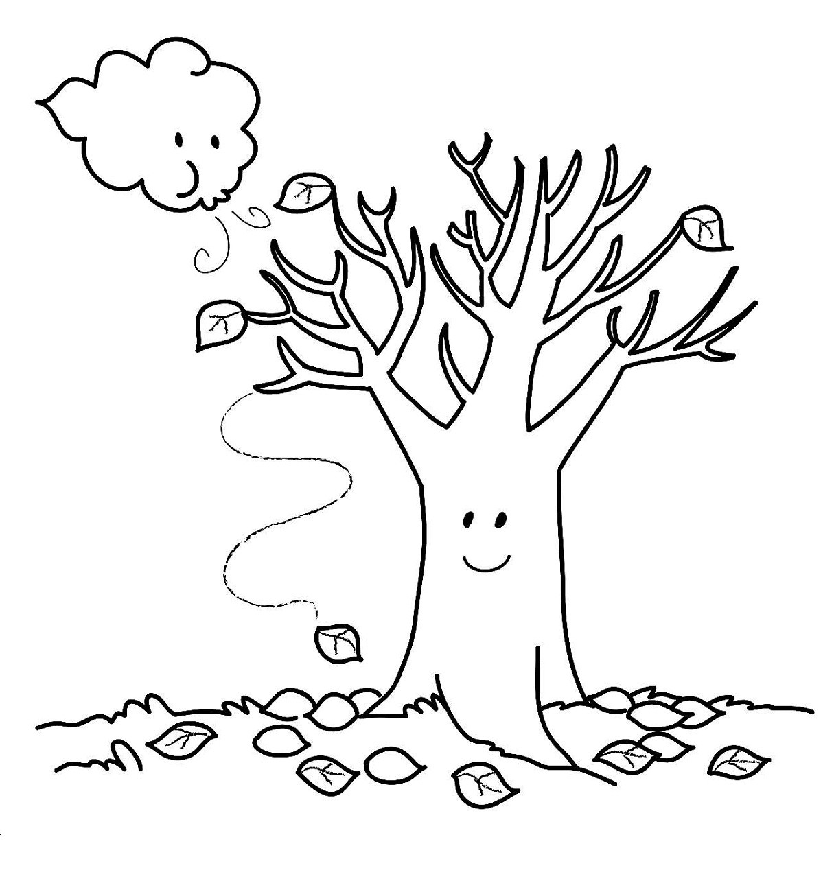 Kids Free Coloring Sheets Fall  Fall Coloring Pages Printable