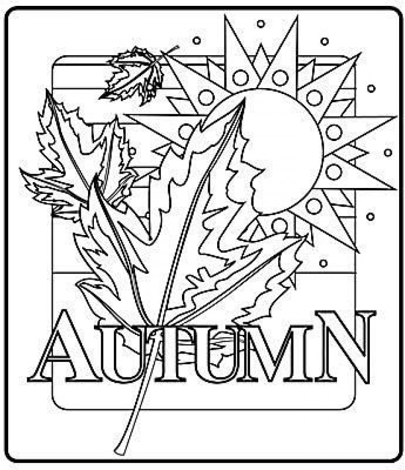 Kids Free Coloring Sheets Fall  Get This line Printable Fall Coloring Pages rczoz